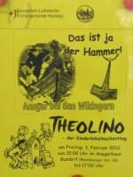 Plakat der Kirchengemeinde Haddeby mit Thorshammer in der Werbung für einen Kinderbibelnachmittag
